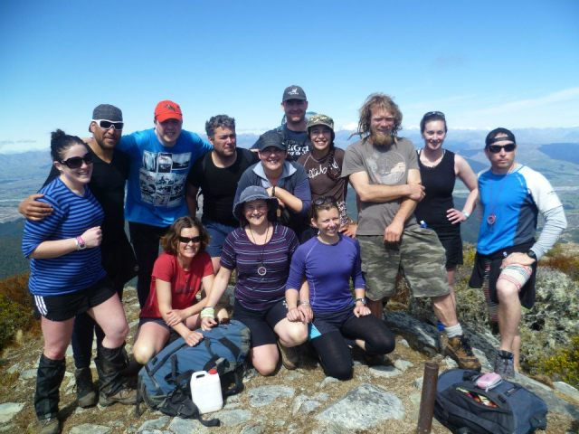 Batton Watch 475 on top of Mt Baldy, Nelson. A very eclectic but fantastic group of people!