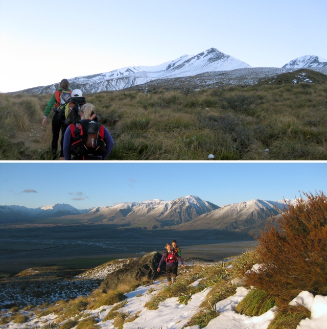 Heading on up on the hike and looking back down the Rangitata river. Amazing!