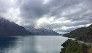 The drive home, Lake Glenorchy looking towards Queenstown