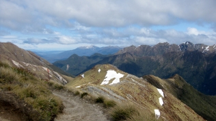 Looking down the Iris Burn Valley towards Lake Manapouri