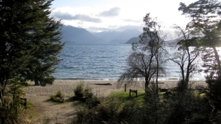 Looking out over Lake Manapouri