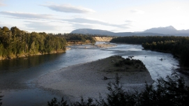 On the edge of the Waiau River