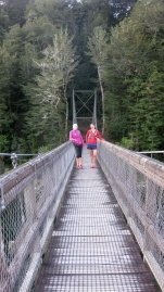 YAY - this swingbridge means the end of the day!
