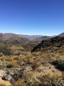 First view of the snow cap mountains, well worth the climb