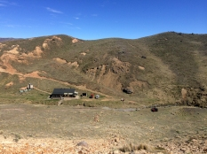 Looking back on Woolshed Creek hut