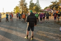 Glen giving the race briefing - Image: Bill Irwin