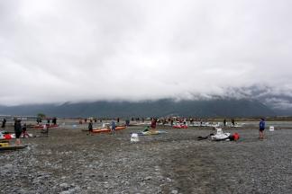 Kayak transition at the Mt White bridge.