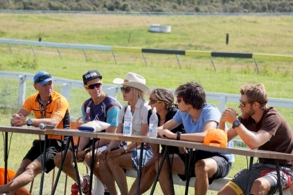 Race favourites. Elina (in the hat) won the 1-Day individual while Sam Clark (end on the right) took home the 1-Day men.