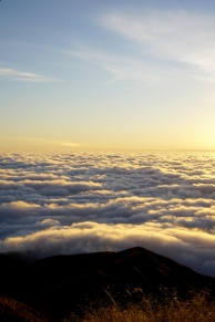 High above the clouds!