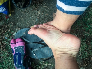 I took this picture of my feet the day after we finished – not a blister in sight!