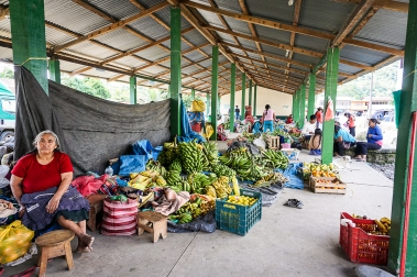 The market at Pilkipata, where we finished the race.